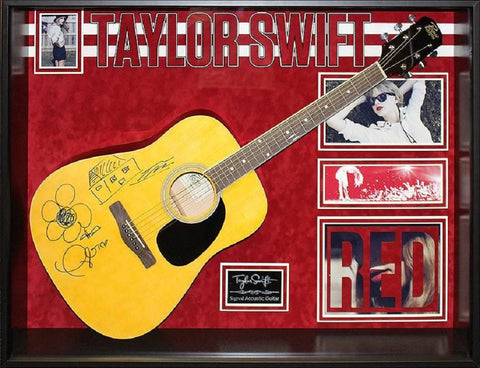 Taylor Swift - Red - Autographed Acoustic Guitar Signed in Framed Case