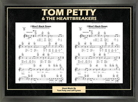 Tom Petty - Framed Music Sheet