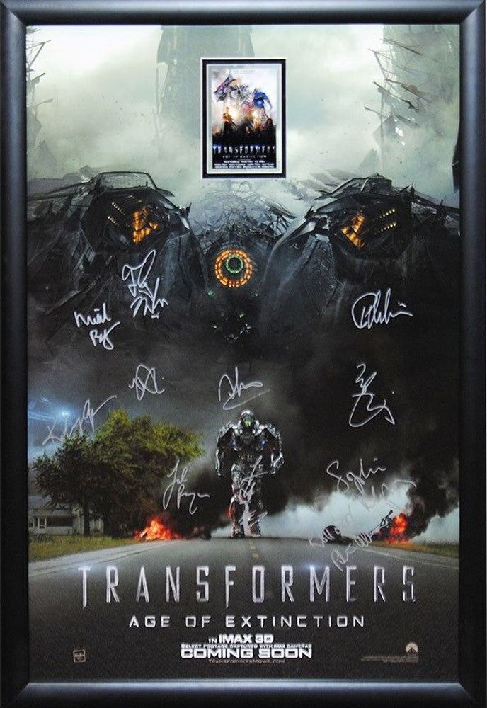 Transformers Age of Extinction - Signed Movie Poster