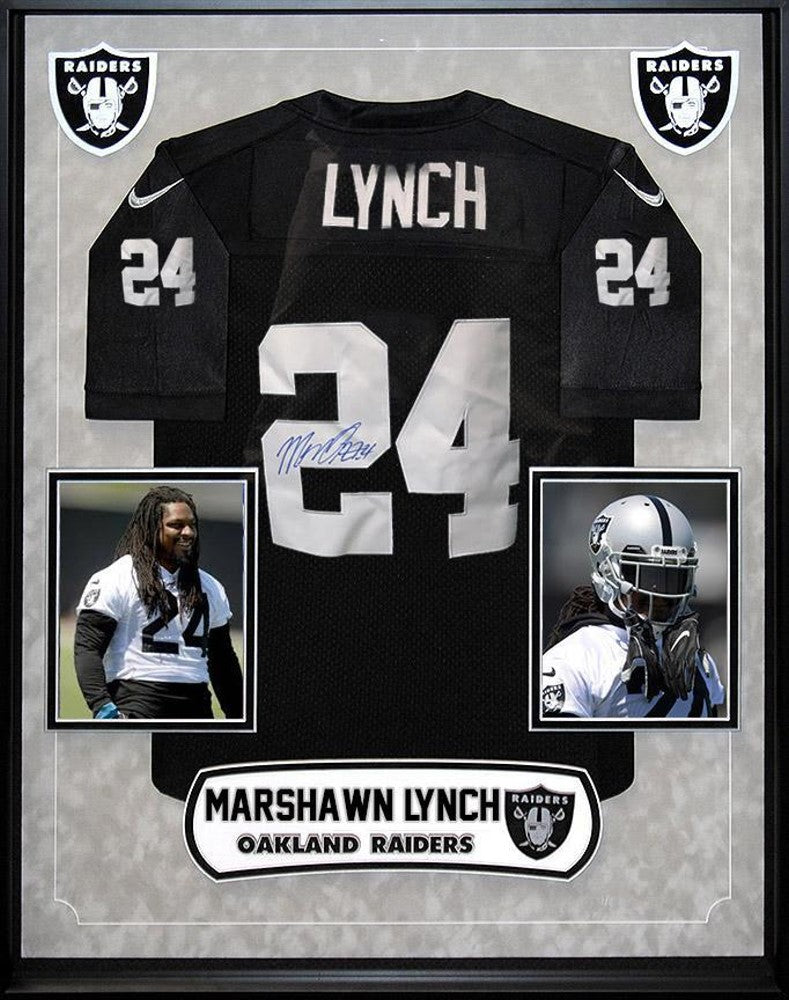 Marshawn Lynch Oakland Raiders NFL Signed Football Jersey Custom ...