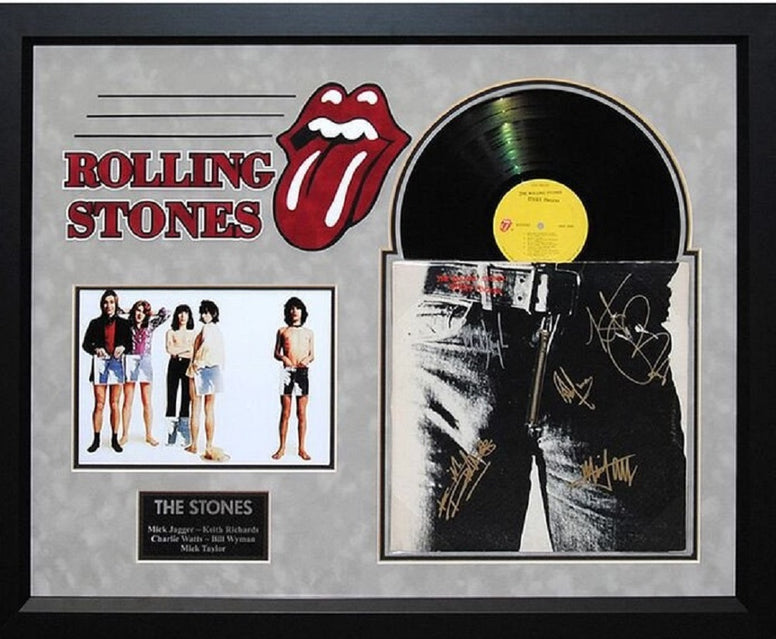 "Rolling Stones ""Sticky Fingers"" Signed LP"