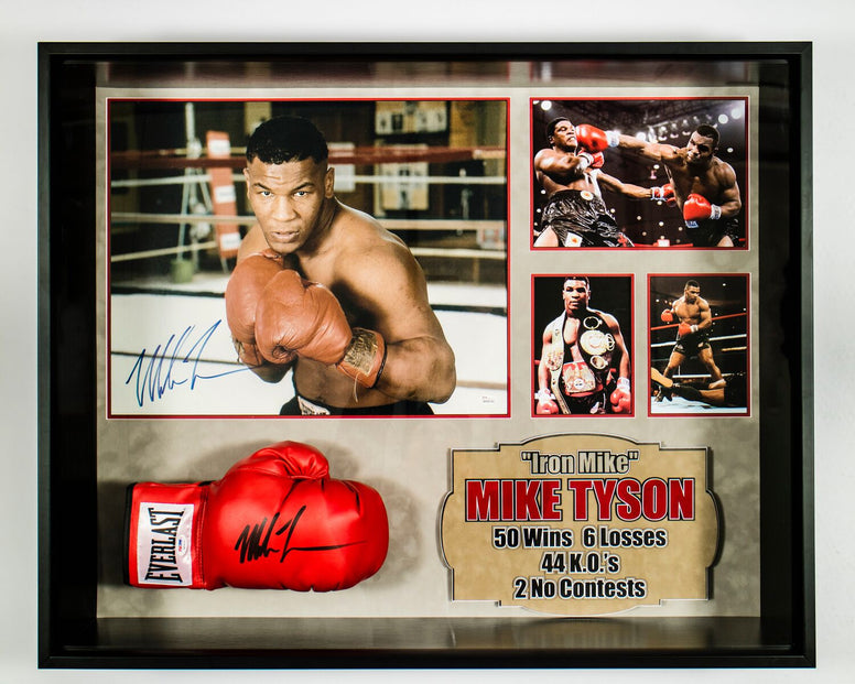 Signed Mike Tyson framed boxing glove and poster - LuxeWest