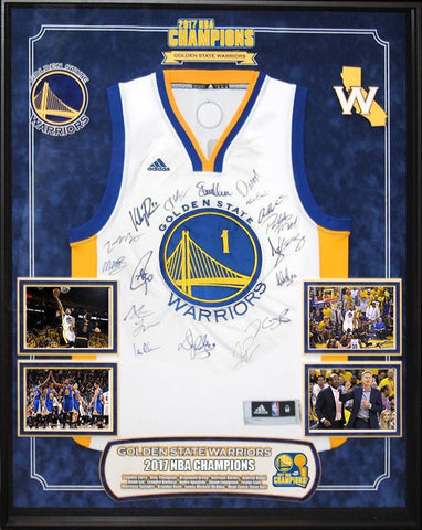 Golden State Warriors NBA 2017 Champions Signed Basketball Jersey