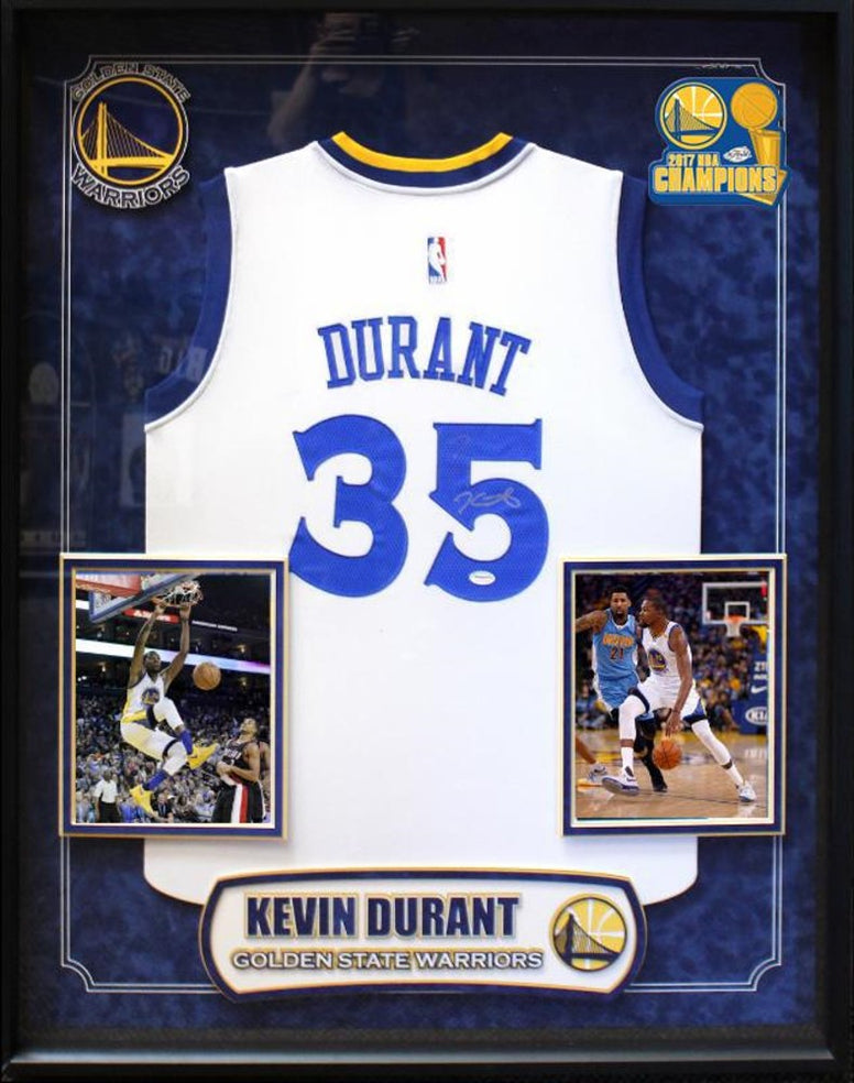 Kevin Durant - Signed Golden State Warriors NBA Basketball Jersey