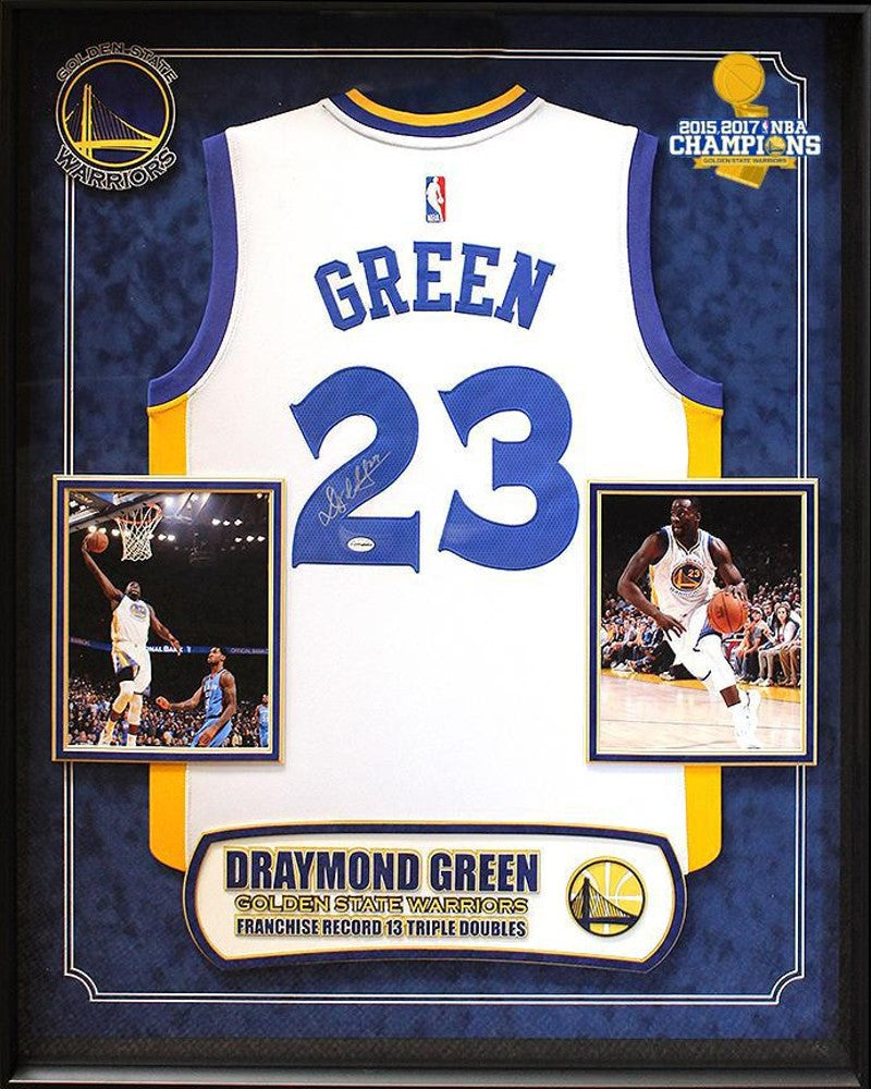 Draymond Green - Signed Golden State Warriors NBA Basketball Jersey ... 5ae514475