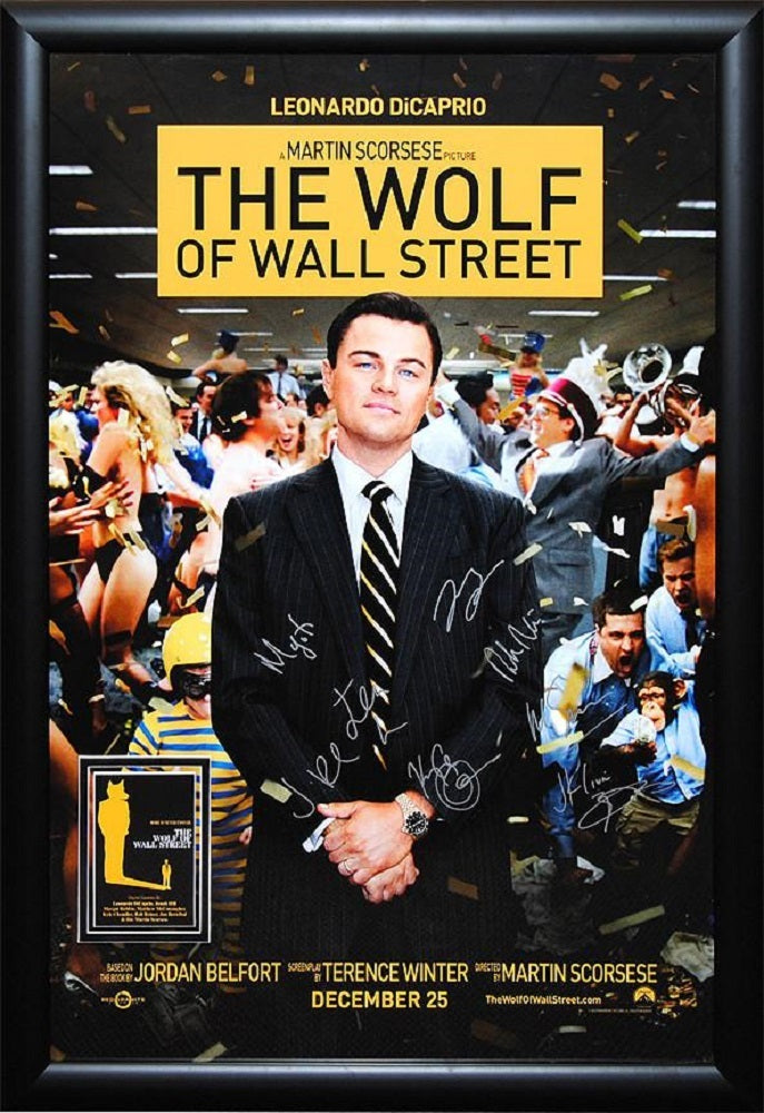 The Wolf of Wall Street - Signed Movie Poster