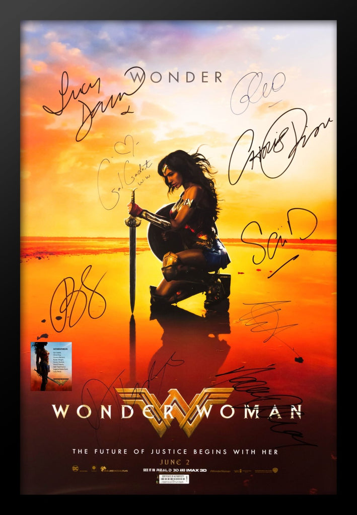 Wonder Woman - Movie Poster Signed by Cast with COA