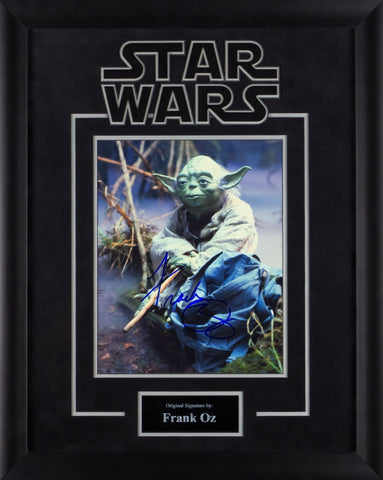 Star Wars - Yoda Signed by Frank Oz Movie Photo in Framed Case