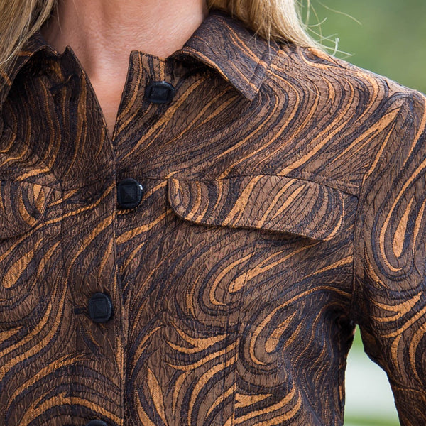 Whistle River Copper Paisley Ladies Jacket - Close Up