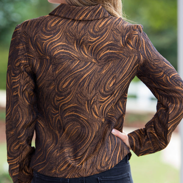 Whistle River Copper Paisley Ladies Jacket - Back