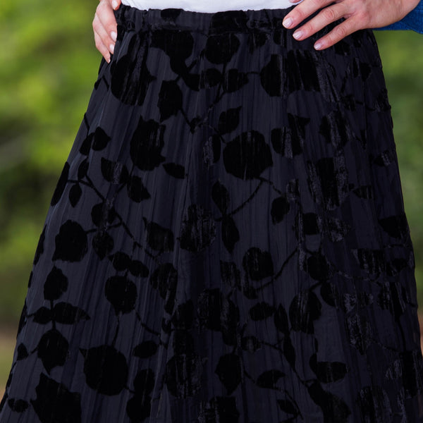 Whistle River Rio Grande Velvet Burnout Skirt