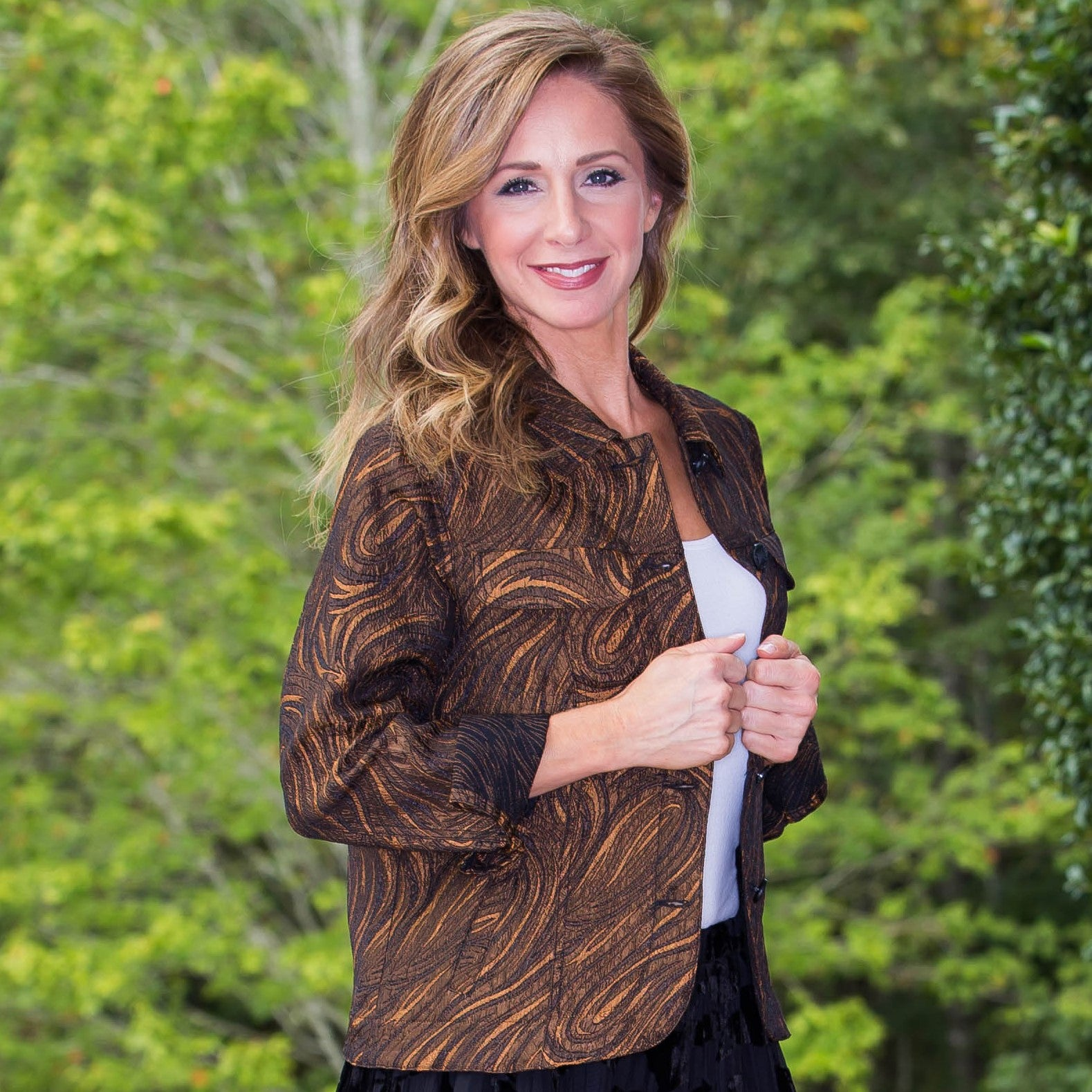Whistle River Copper Paisley Ladies Jacket - Front