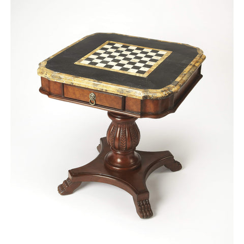 Butler Carlyle Fossil Stone Game Table 506070-Game Tables-Floor Mirror Gallery