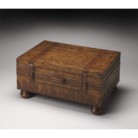 Butler Vasco Old World Map Trunk Table 576070-Cocktail Tables-Floor Mirror Gallery
