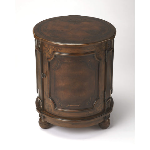 Butler Thurmond Alligator Hand Painted Drum Table 584063-ACCENT TABLE-Floor Mirror Gallery