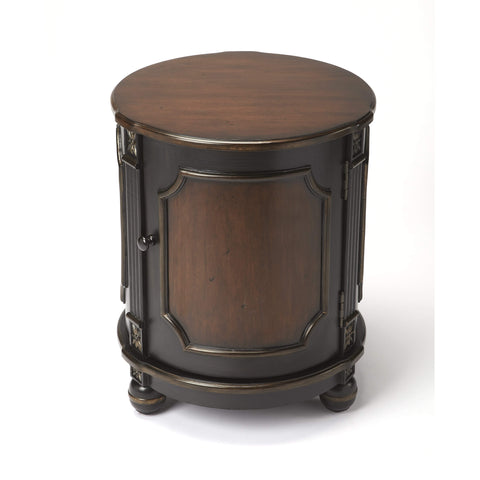 Butler Thurmond Café Noir Drum Table 584104-Accent Table-Floor Mirror Gallery
