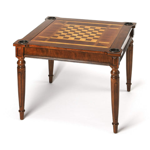 Butler Vincent Antique Cherry Multi-Game Card Table 837011-Game Tables-Floor Mirror Gallery