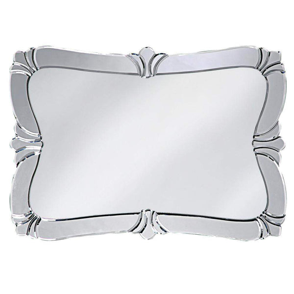 Howard Elliott Messina Fleur de Lis Mirror 31H x 22W x 1D - 11009-Wall Mirror-Floor Mirror Gallery