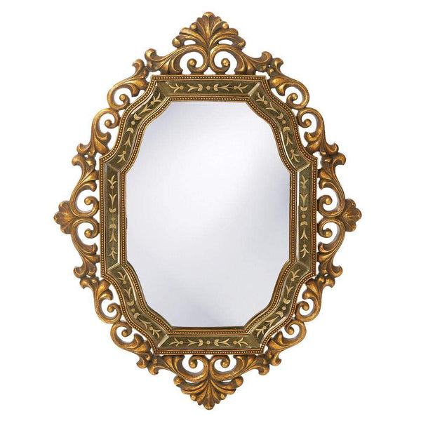 Howard Elliott Ariana Gold Mirror 40H x 31W x 2D - 11059-Wall Mirror-Floor Mirror Gallery