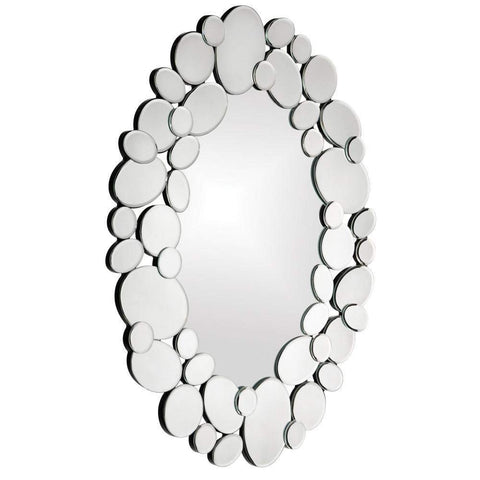 Howard Elliott Stratus Oval Mirror 35H x 28W x 1D - 11087-Wall Mirror-Floor Mirror Gallery