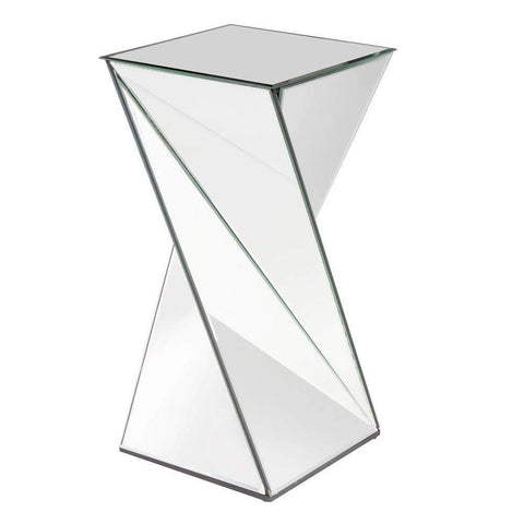 Howard Elliott Aries Twisted Mirrored End Table 27H x 13W x 13D - 11093-End Table-Floor Mirror Gallery