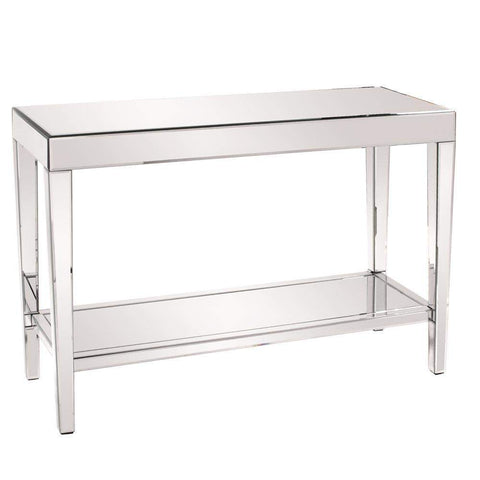 Howard Elliott Orion Mirrored Console Table with Shelf 30H x 44W x 15D - 11096-Console Table-Floor Mirror Gallery