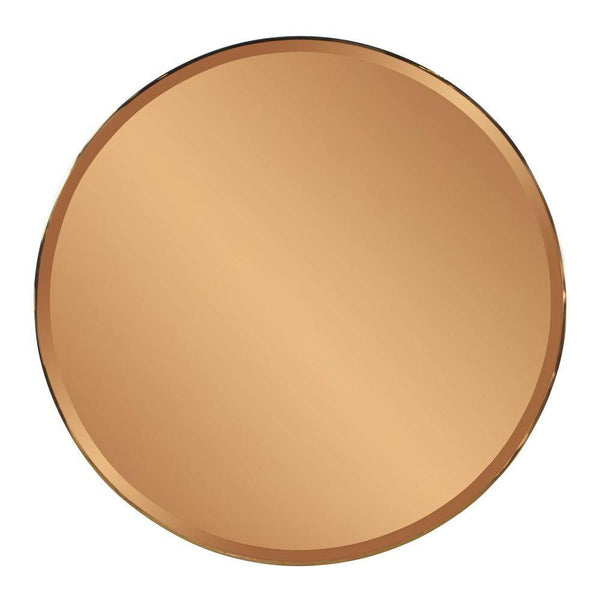 Howard Elliott Aidan Round Gold Mirror 40H x 40W x 1D - 11218-Wall Mirror-Floor Mirror Gallery