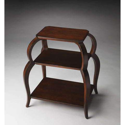 Butler Shelby Plantation Cherry Tiered Side Table 1133024-Accent Table-Floor Mirror Gallery