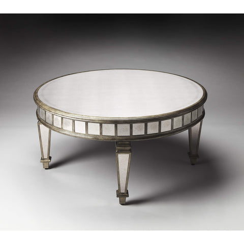 Butler Garbo Mirrored Coffee Table 1140146-Cocktail Tables-Floor Mirror Gallery