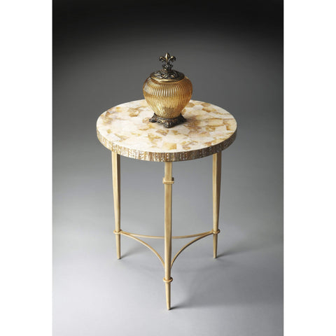 Butler Marlena Round Shell Accent Table 1267140-Accent Table-Floor Mirror Gallery