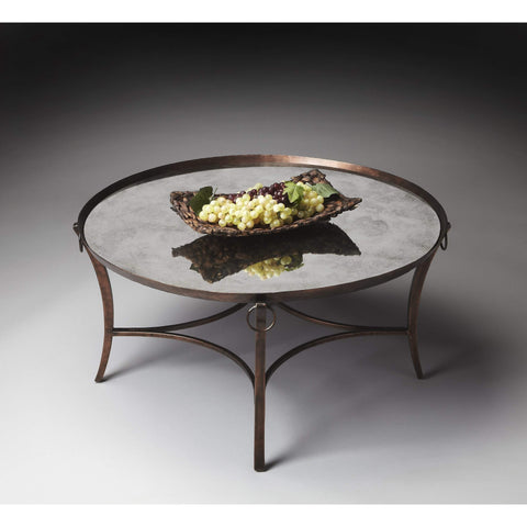 Butler Marilyn Metal & Mirrored Coffee Table 1289025-Cocktail Tables-Floor Mirror Gallery