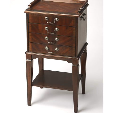 Butler Hardwick Plantation Cherry Silver Chest 1334024-Serving Tables-Floor Mirror Gallery
