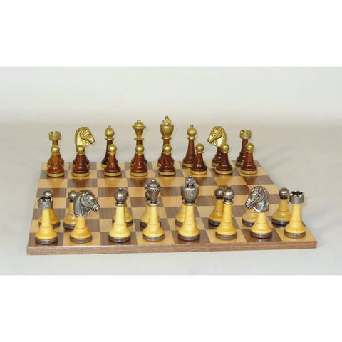 Wood & Metal men Set, WW Chess, Italy-China, 141MW-WB, by WorldWise Imports-Chess Set-Floor Mirror Gallery