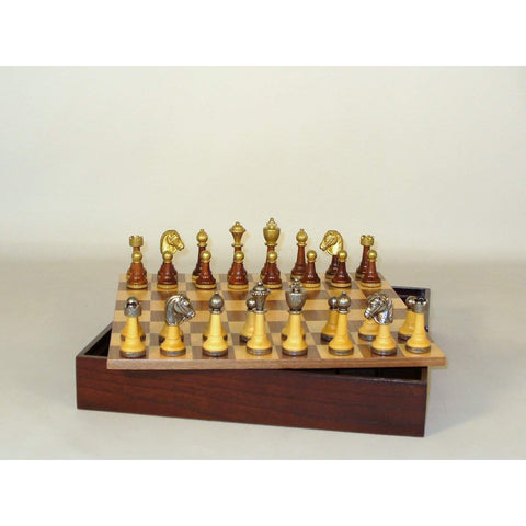 Wood & Metal men wood chest, WW Chess, Italy-China, 141MW-WCT, by WorldWise Imports-Chess Set-Floor Mirror Gallery