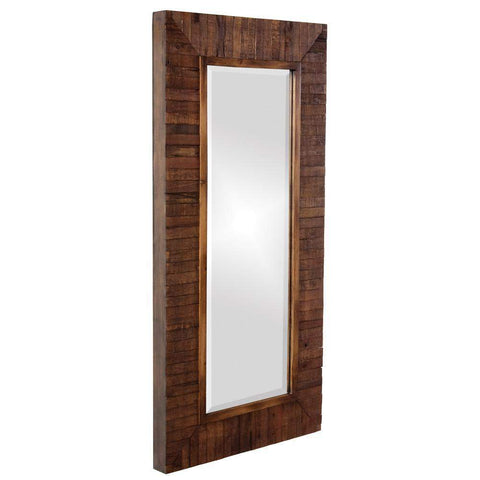 Howard Elliott Timberlane Rustic Walnut Mirror 48H x 24W x 2D - 14234-Wall Mirror-Floor Mirror Gallery