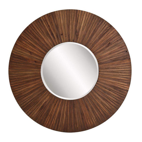 Howard Elliott Walden Wood Plank Mirror 36H x 36W x 2D - 14275-Wall Mirror-Floor Mirror Gallery