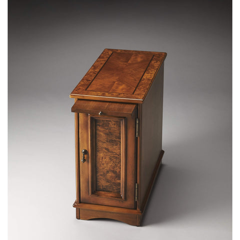 Butler Harling Olive Ash Burl Chairside Chest 1476101-Chairside Chests-Floor Mirror Gallery