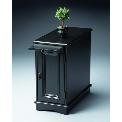 Butler Harling Black Licorice Chairside Chest 1476111-Chairside Chests-Floor Mirror Gallery