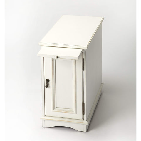 Butler Harling Cottage White Chairside Chest 1476222-Chairside Chests-Floor Mirror Gallery