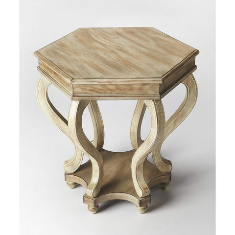 Butler Margaret Driftwood Accent Table 1560247-ACCENT TABLE-Floor Mirror Gallery
