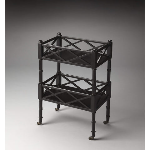 Butler Foster Black Licorice Mobile Server 1565111-Serving Tables-Floor Mirror Gallery