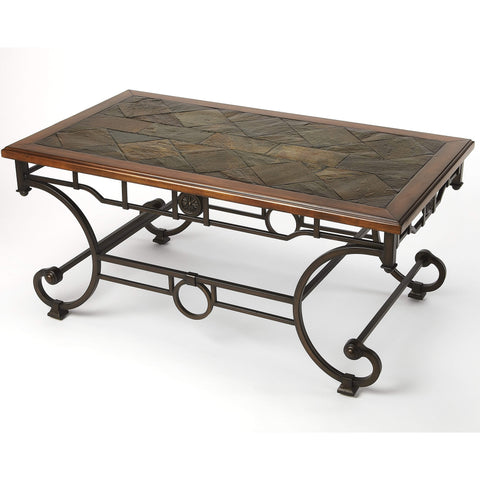 Butler Waveland Rectangular Coffee Table 1574025-Cocktail Tables-Floor Mirror Gallery