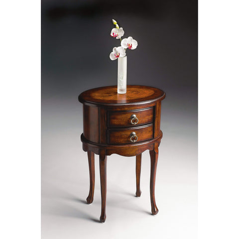 Butler Whitley Plantation Cherry Oval Side Table 1589024-Accent Table-Floor Mirror Gallery