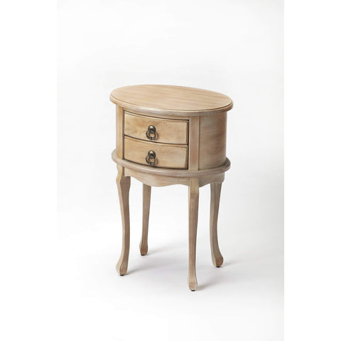 Butler Whitley Driftwood Oval Side Table 1589247-ACCENT TABLE-Floor Mirror Gallery