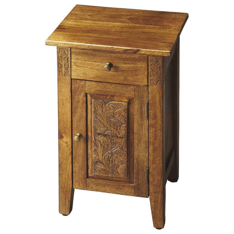 Butler Webster Hand Carved Chairside Chest 1841290-Chairside Chests-Floor Mirror Gallery