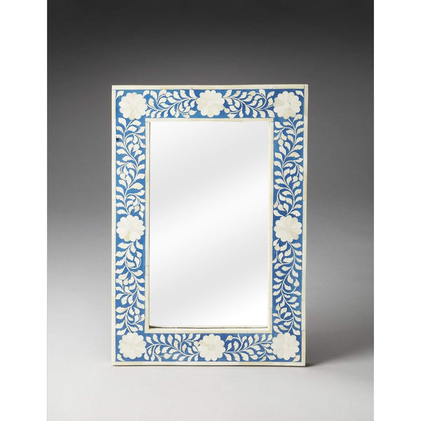 Butler Olivia Blue Bone Inlay Wall Mirror 1855070-Wall Mirror-Floor Mirror Gallery