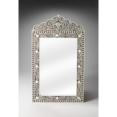 Butler Victoria Black Bone Inlay Wall Mirror 1856070-Wall Mirror-Floor Mirror Gallery