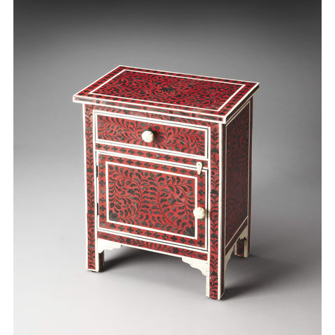 Butler Kayla Bone Inlay Chairside Chest 1879070-Chairside Chests-Floor Mirror Gallery