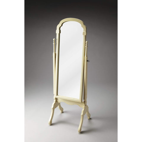 Butler Meredith Cottage White Cheval Mirror 1911222-Cheval Mirror-Floor Mirror Gallery