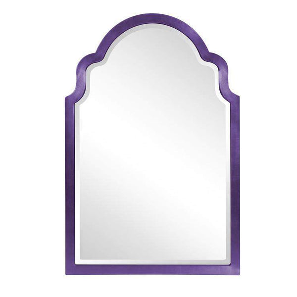"Howard Elliott Sultan Glossy Royal Purple Mirror 24"" x 36"" x 1"" - 20107RP-Wall Mirror-Floor Mirror Gallery"